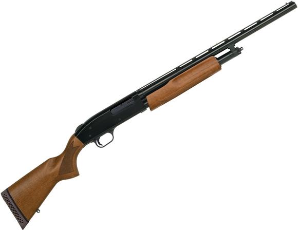 0037050 mossberg 505 youth pump action shotgun 20ga 3 20 vented rib blued wood stock 4rds dual bead sights a 580
